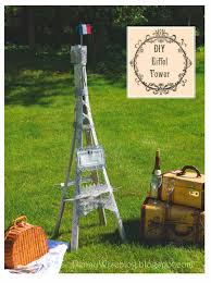 pennywise springtime in paris diy eiffel tower from garden trellis