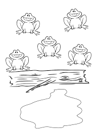 five little speckled frogs coloring pages for kids coo