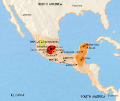 mayan empire map and aztec empires on history maps from timemaps