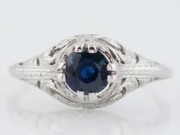 belais brothers antique engagement ring art deco 73 round cut
