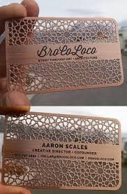 laser cut business cards intricate laser cut and etched metal business card for an