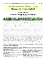 Pousser En Mongo Est Il by Plantes Tropicales Utilisables Pour Le Lapin Pdf Download Available