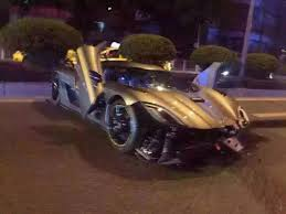 koenigsegg factory koenigsegg agera r crashed in china