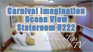 carnival imagination ocean view stateroom u222 youtube
