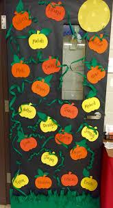 halloween door decoration door pumpkins with cool vines