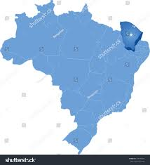 Brazil Map States by Political Map Brazil All States Where Stock Vector 179795393