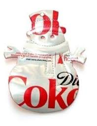 ornaments made from recycled soda cans from
