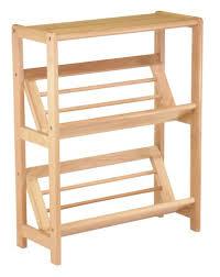 Angled Bookshelf Amazon Com Winsome Wood 2 Tier Bookshelf Natural Kitchen U0026 Dining