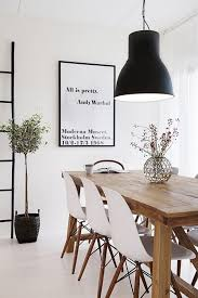 Oversized Dining Room Chairs Scandinavian Inspired Apartment Dining Room With Oversized