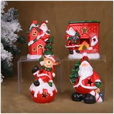 ceramicslife ceramic candlestick cartoon santa claus christmas