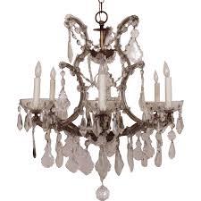 Maria Theresa Chandelier Italian Chandelier Crystal Glass Maria Theresa 6 Light W Prisms