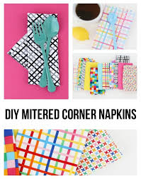 how to make table napkins diy dinner napkins learn it make it on craftsy