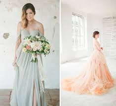 coloured dress beautiful coloured wedding dresses for glitzy secrets