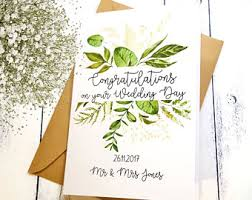 Congratulations On Your Marriage Cards Wedding Greeting Cards Etsy Au