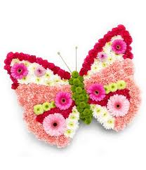 butterfly funeral tribute rays florist funeral flowers
