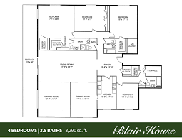 5 Bedroom One Story House Plans 5 Bedroom 4 Bath House Plans Luxihome
