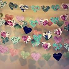 Shabby Chic Bridal Shower Decorations by 10 Ft Paper Heart Garland Vintage Shabby Chic Roses Wedding