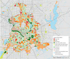 Dallas County Map by Map Of Accessibility To Public Parks Dallas