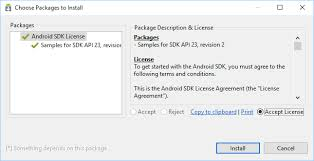 android license keeping the android sdk updated tek eye