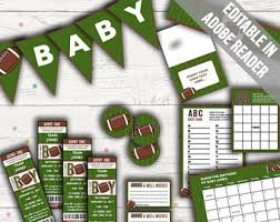 football baby shower football baby shower etsy