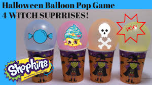 halloween games for kids balloon pop games shopkins witches