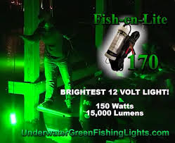 portable underwater fishing lights 12v and 110 bipowered radar drop light underwater green fishing lights