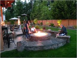 Firepit Plans Backyard Design With Pit Compact Back Yard 5 Outstanding