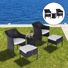 Wicker Outdoor Patio Furniture - outsunny rattan wicker outdoor patio furniture leisure set w