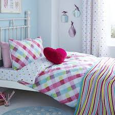 11 99 dunelm amelia check bed linen collection dunelm kids