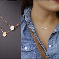 day necklaces best 25 initial necklace gold ideas on initial