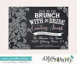 custom bridal shower invitations chalk brunch custom bridal brunch invitation card brunch with