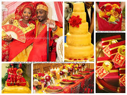 nigerian wedding mustard yellow u0026 red color combination african