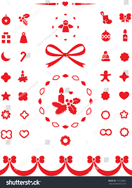 New Year Decoration Elements by Universal Christmas Elements Icons Decoration Elements Stock
