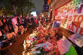 remembrance items vigil held at the stonewall inn for orlando shooting victims