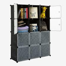 White Cube Bookcase by Amazon Com Unicoo 12 Cube Plastic Bookcase With White Door