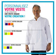 veste cuisine personnalisé veste de cuisine broderie offerte large collection