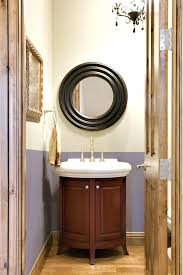 powder room bathroom ideas powder room remodel ideas exciting black rounded mirror over white