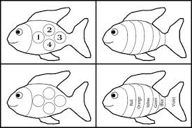 rainbow fish black and white template clipart library clip art