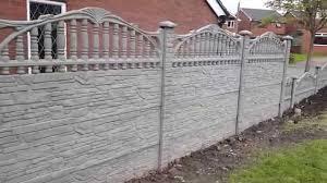 p u0026a fencing decorative concrete fence panels york youtube