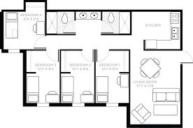 Floor Plan Of A House With Dimensions Lake Claire Community Apartments Housing And Residence Life Ucf