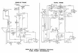 ford b f t series trucks 1964 fuel pump schematic diagram