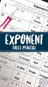 best 25 simplifying expressions with exponents ideas on pinterest