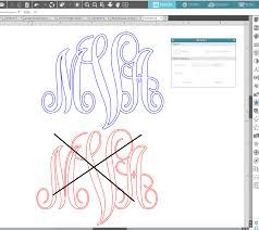 initial fonts for monogram how to cut a vinyl monogram with silhouette cameo silhouette school