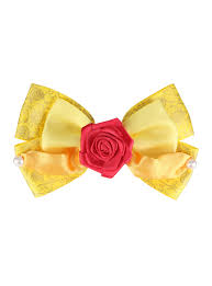 hair bow disney beauty and the beast dress hair bow hot topic