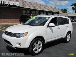 mitsubishi diamond 2007 mitsubishi outlander xls 4wd in diamond white pearl 010122