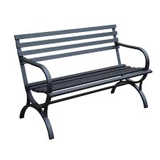 bench outdoor benches lowes shop garden treasures in w x l patio