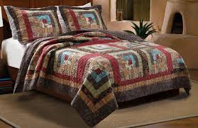 accessories glamorous rustic bedding cabin place bear country