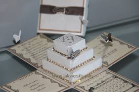 boxed wedding invitations lace exploding box wedding invitations w square cake jinkys crafts