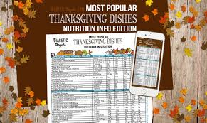 thanksgiving popular dishes popular thanksgiving dishes nutrition info edition diabetic angels