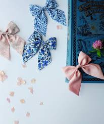 handmade bows what an underrated color combination this cobalt blush
